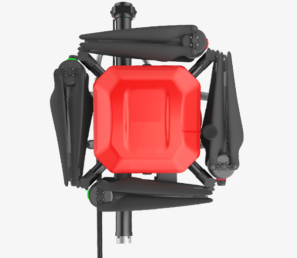 Fire fighting drone foldable