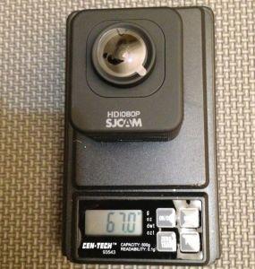 SJCAM M10 Weight = 67 grams