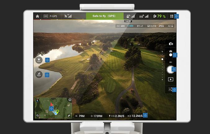DJI Pilot App and Lightbridge bring  a fuller pilot experience.