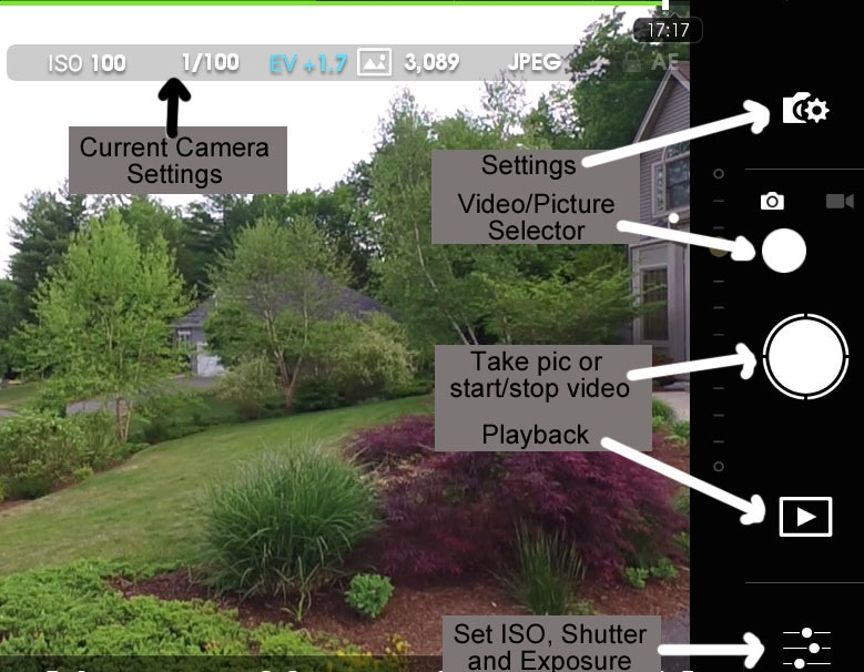 Basic Camera Controls in the DJI Go App