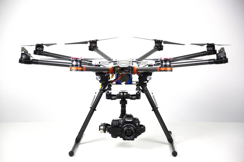 DJI S-1000 with large camera and gimbal