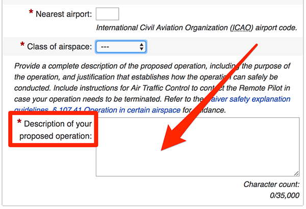 Airspace authorization form_3   Drone Pilot Ground School