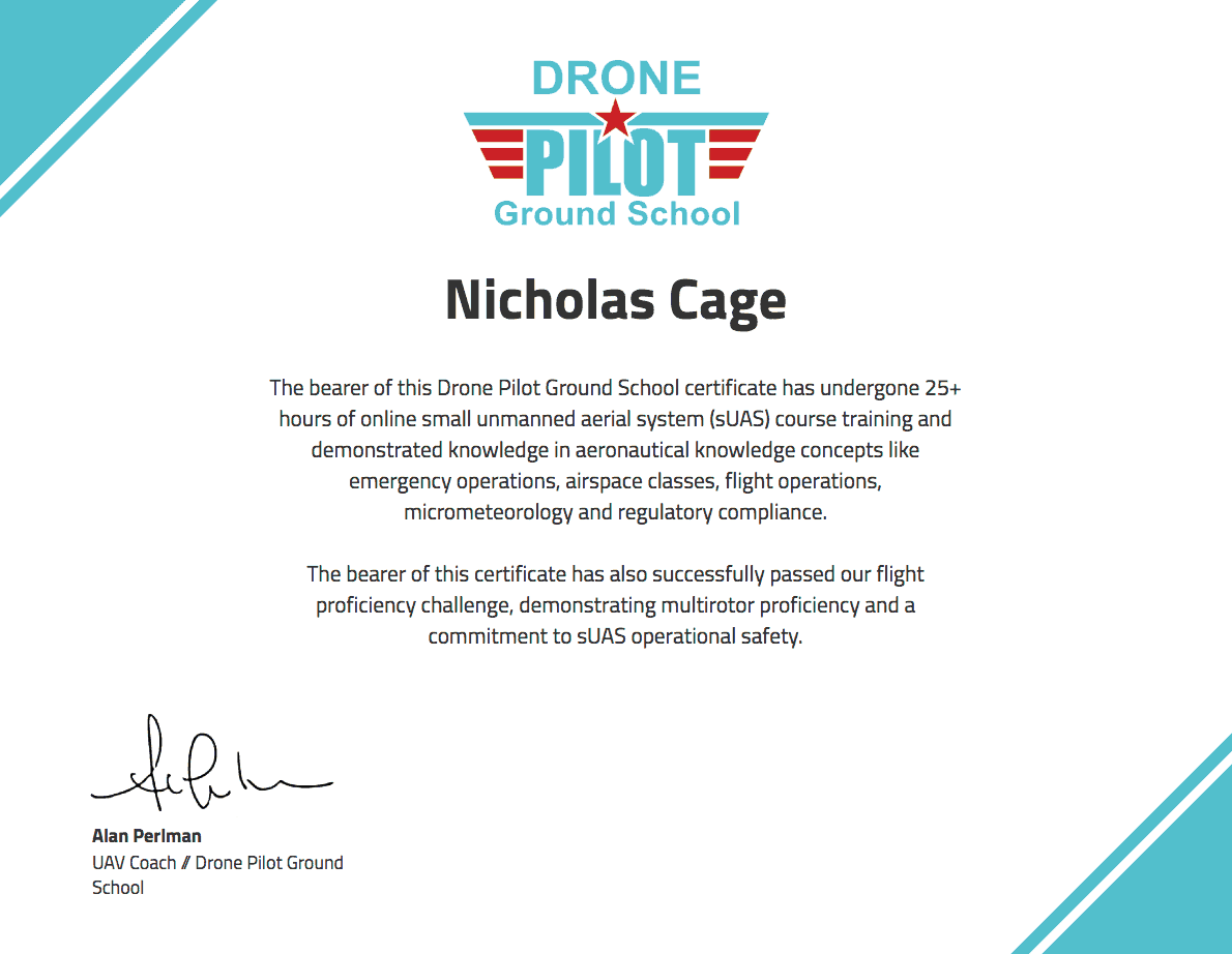 Drone Training Certificate Drone Pilot Ground School