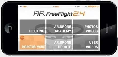 modo director parrot ar drone 2.0