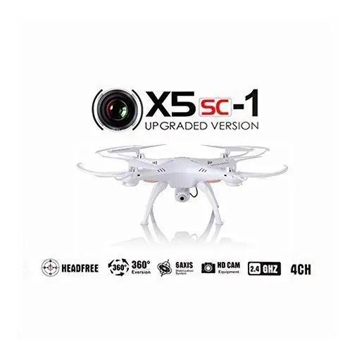 Syma-X5SC-1-Falcn-Drone-Cuadricptero-RC-20-Mp-Cmara-4-Canales-24GHz-Luz-LED-Blanco-0
