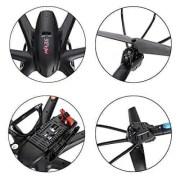 Arshiner-MJX-X600-24G-4-Canales-RC-Quadcopter-Drone-Hexacopter-6-Ejes-Gyro-3D-Rollo-de-Retorno-Automtico-sin-Cabeza-Modo-Uno-Volver-Helicptero-Keysin-cmara-Negro-0-6