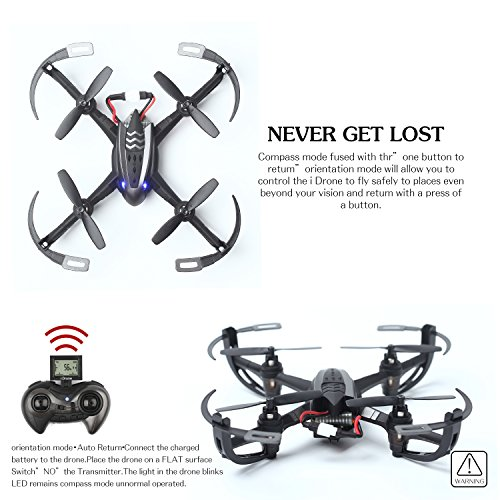 WOBOX RC Drone with 2MP HD Camera RC Quadcopter 4CH 6-Axis