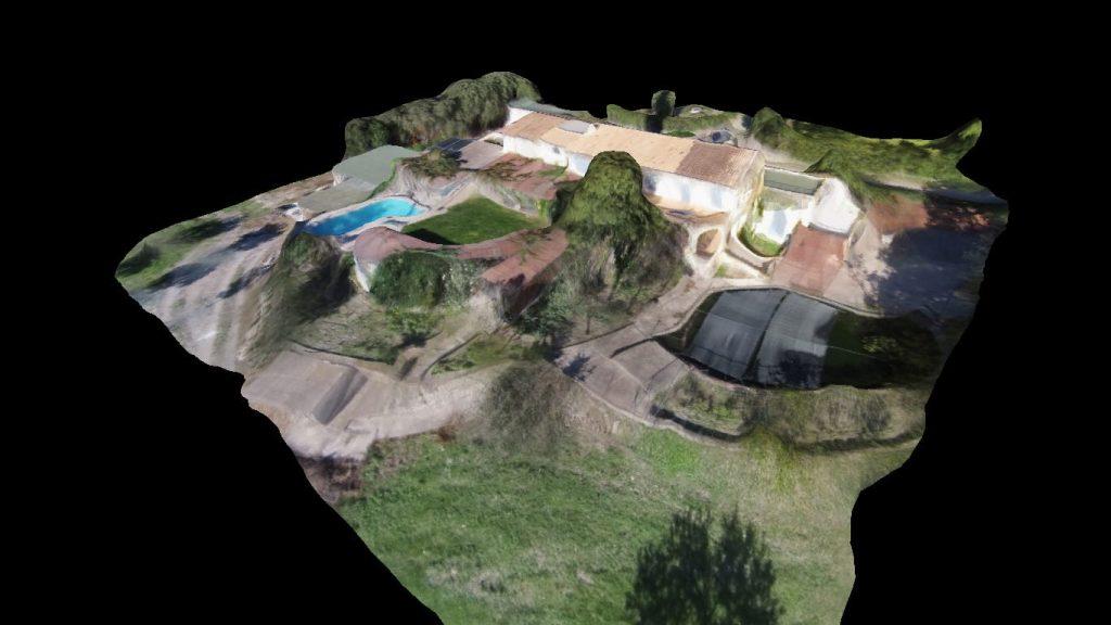 modelo 3D de chalet