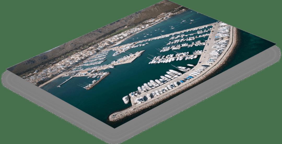 foto 3D club náutico Puerto Pollensa