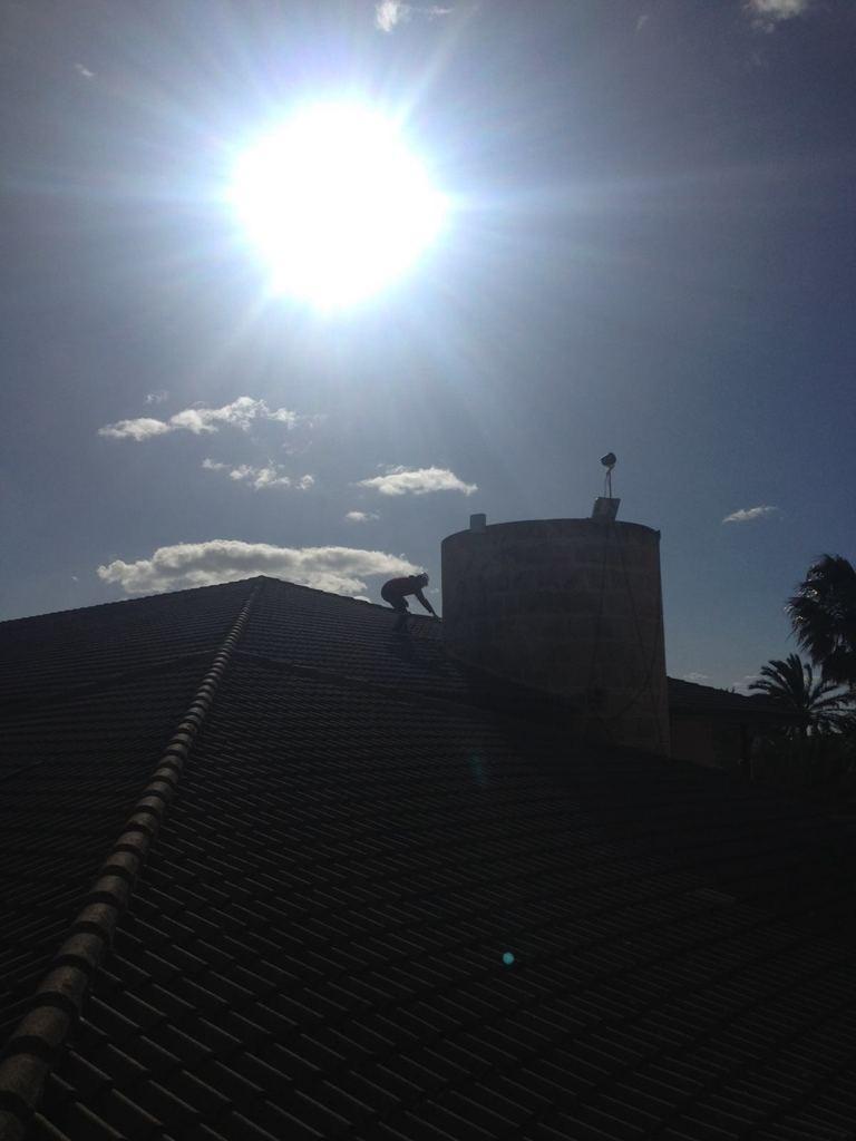 tejado donde se instala una cámara timelapse