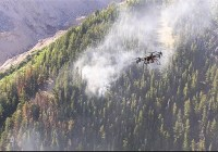Drones packing infrared imaging cameras identify wildfires
