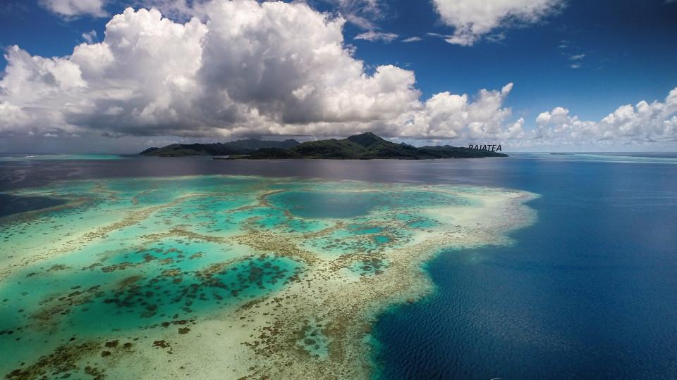 Tahiti From Above Raiatea Lagoon French Polynesia