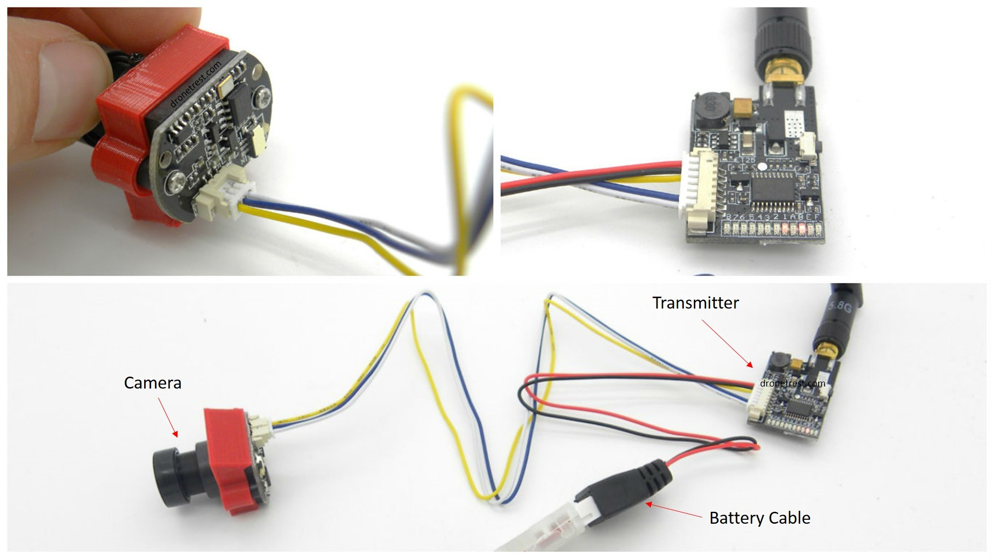 fpv racing drone wiring diagram moen shower valve parts camera and transmitter for micro