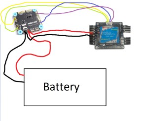Wiring Cicada 4 in 1 ESC to Diatone FC with integrated PDB