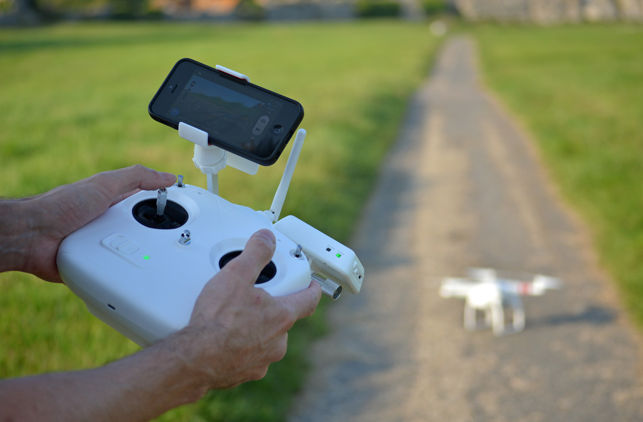DJI Quadcoptor Phantom Vision Plus, Vicki Burton July 22, 2014