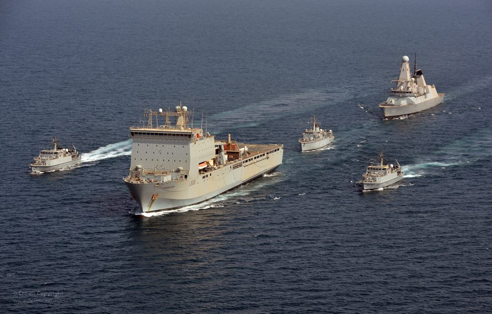 RFA Cardigan Bay Leading Royal Navy Ships in the Middle East, UK Ministry of Defence Auguest 19, 2012