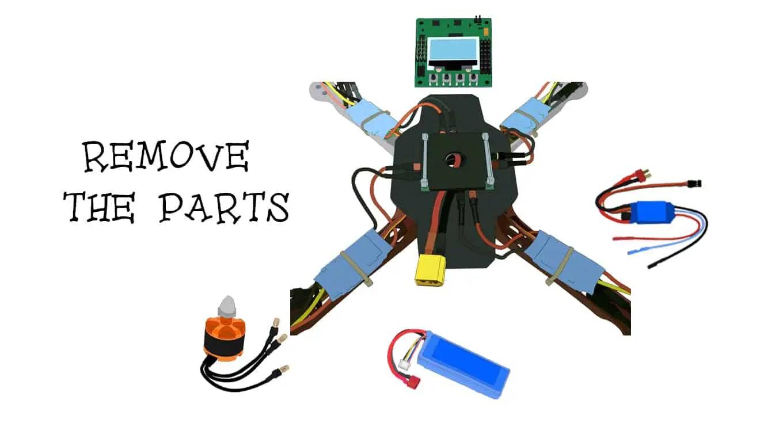 Waterproof quadcopter