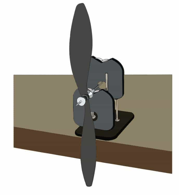 Desk edge ( Balancing Propellers )