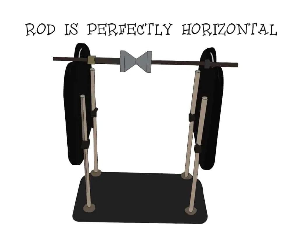 Balancing propellers: Rod horizontal