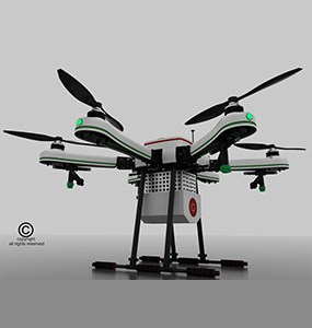 Droni Tech Agriculture Drone Side View