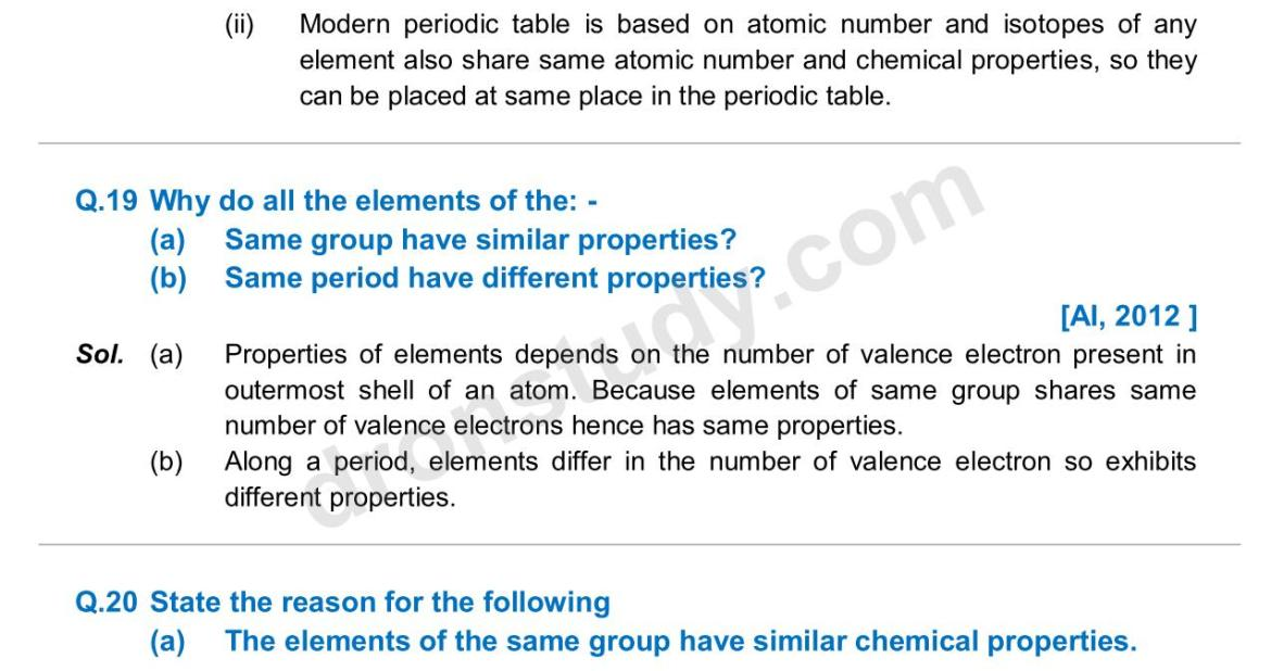Previous Year Questions - Periodic Classification_13