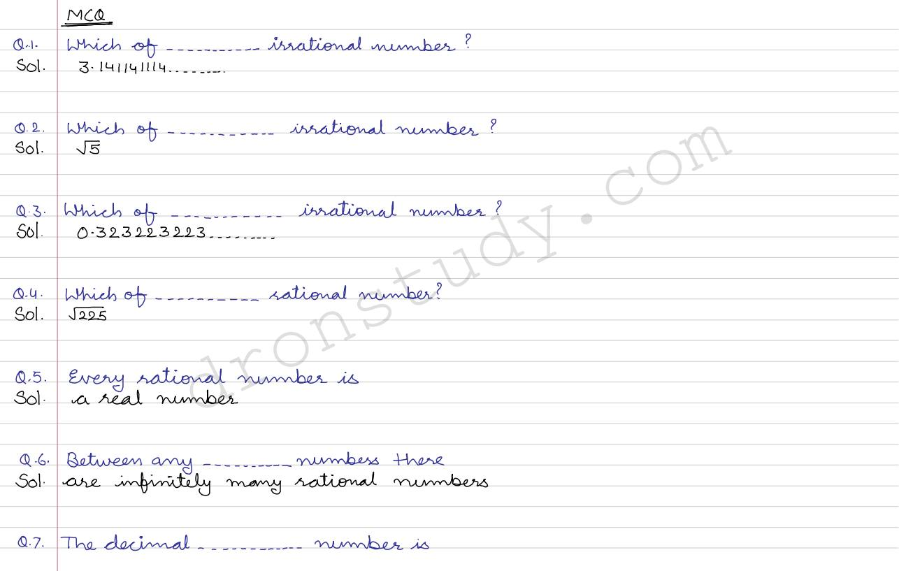 Cbse Class 9 Number System Worksheet