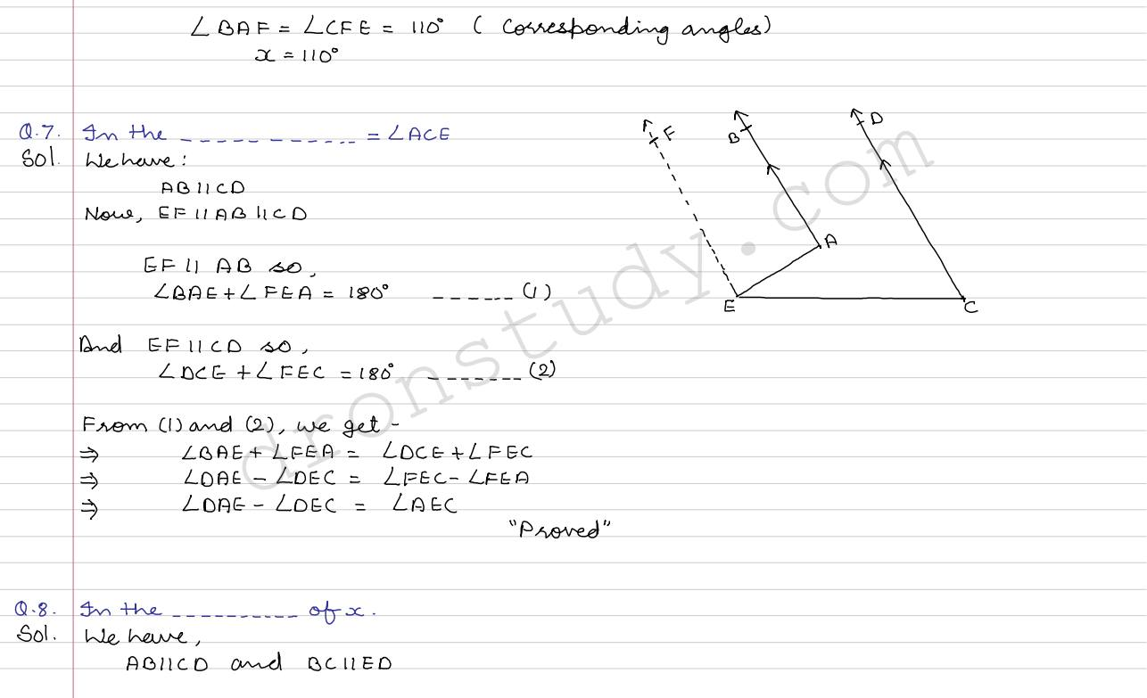 Angles Lines And Triangles Ex 4c R Sgarwal
