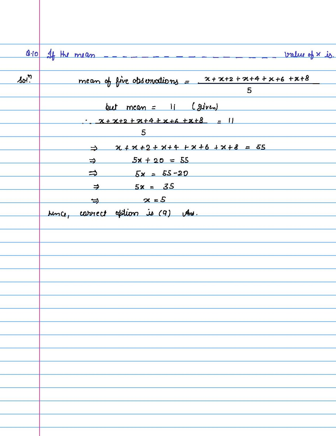 solution of MCQ questions of statistics of class 9th-page-010