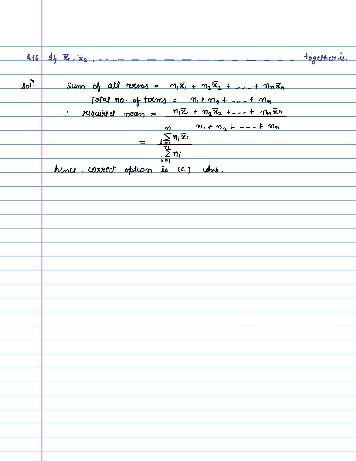 solution of MCQ questions of statistics of class 9th-page-016