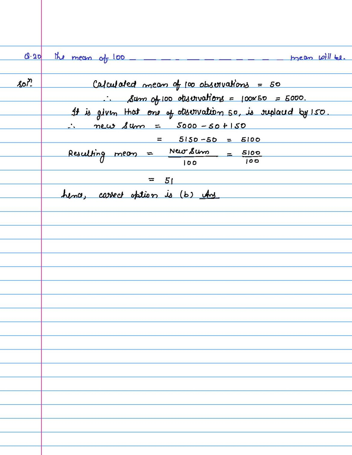 solution of MCQ questions of statistics of class 9th-page-020