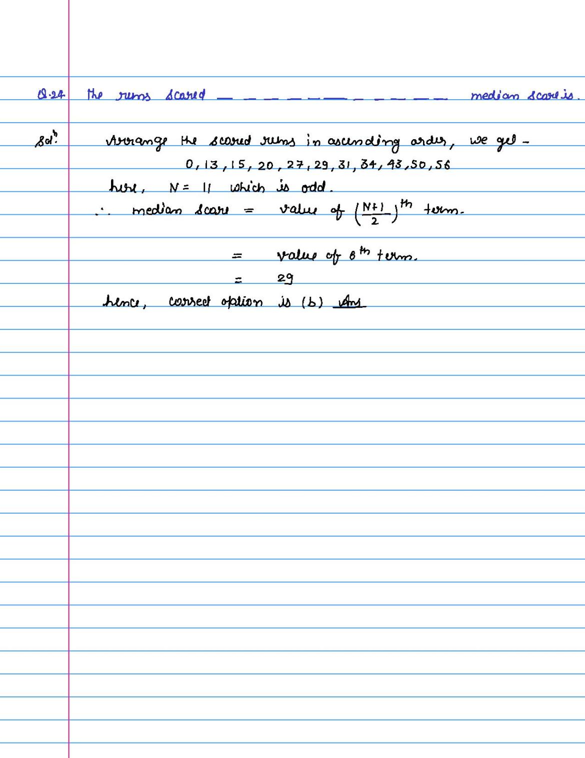 solution of MCQ questions of statistics of class 9th-page-024