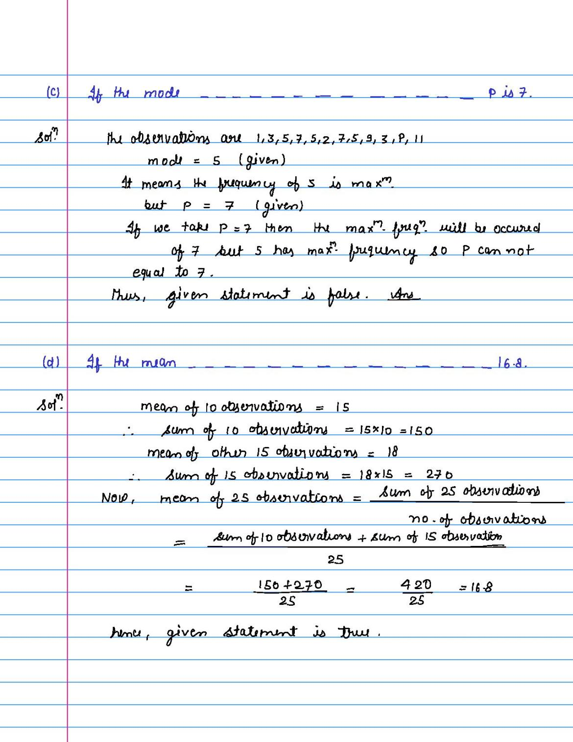 solution of MCQ questions of statistics of class 9th-page-047