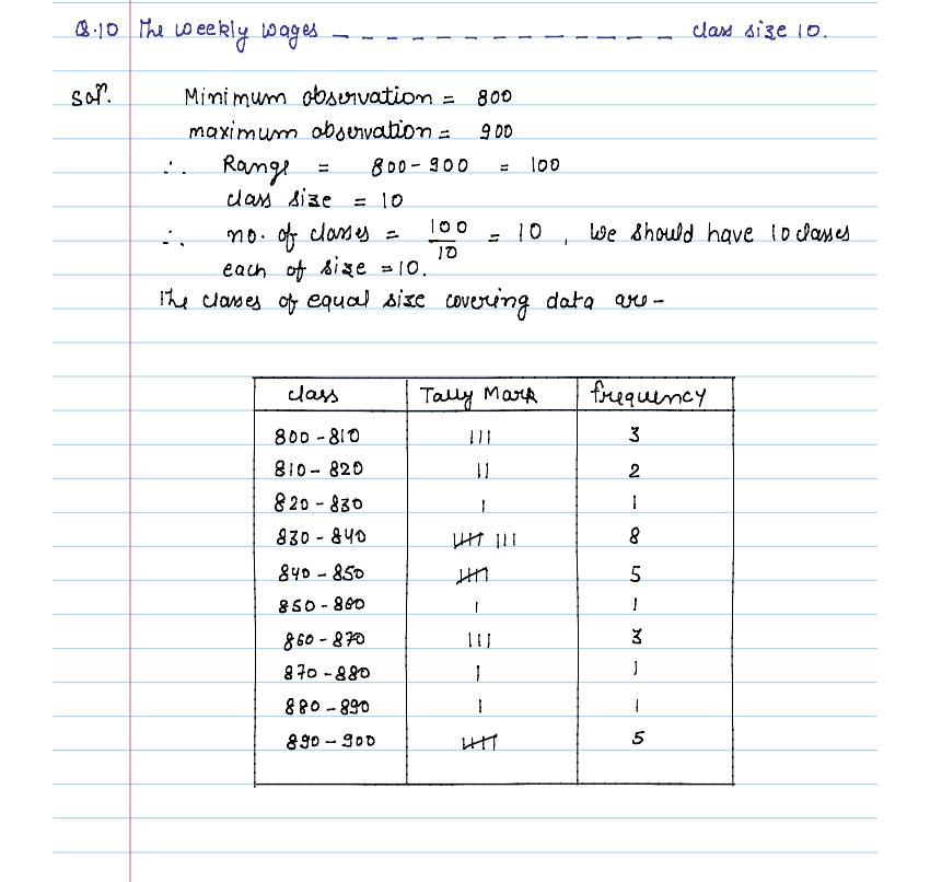 solution of exercise _14A statistics of class 9th by jiendra_11