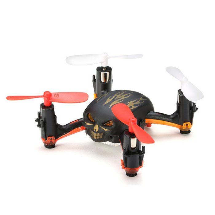 Global Drone GW008 Mini Skull - death metalový mini dron