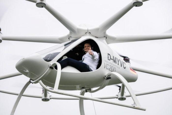 Volocopter VC200 má za sebou první úspěšný let s lidskou posádkou