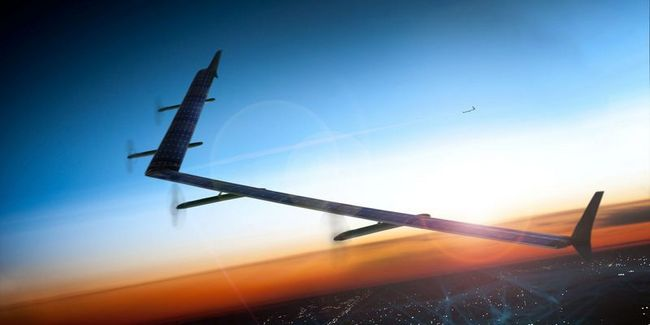 Dron Aquila od Facebooku úspěšně vzlétl a má za sebou první let