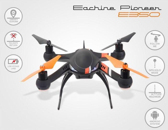 Představení: Eachine Pioneer E350 – multitalent s GPS