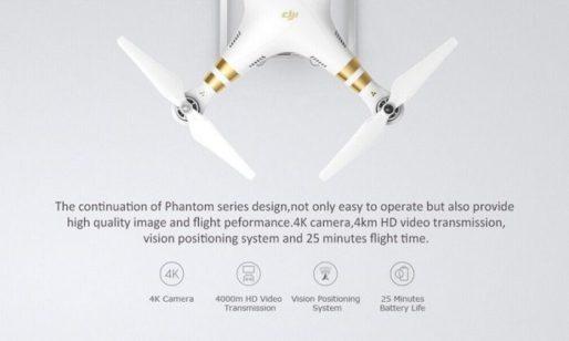 dron DJI Phantom 3 SE vlastnosti