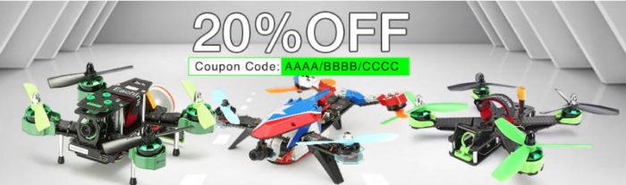 Závodní drony na Banggodu