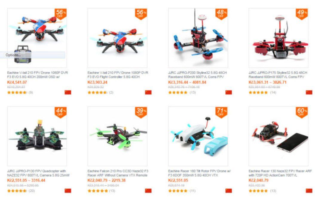 závodní drony