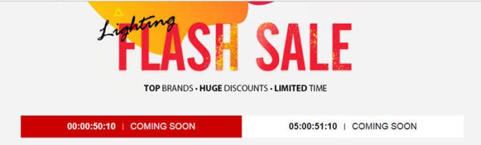 Lightning Flash sale na Gearbest