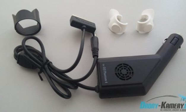 Recenze příslušenství k DJI P4 – stínítko kamery, krytky na snímače a nabíječka do auta