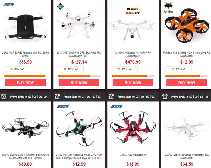 letní slevy drony