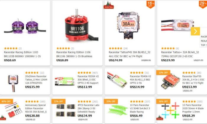 produkty od RacerStar