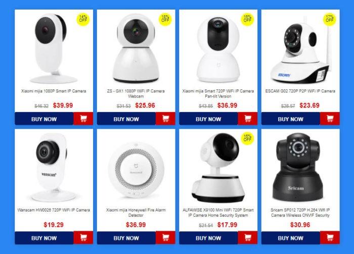 Outdoorové, bezpečnostní i kamery do auta ve výprodeji