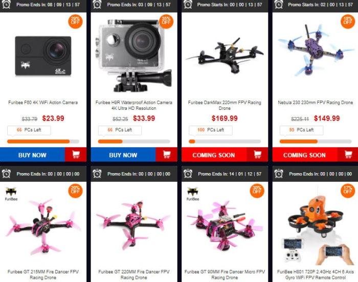 výprodej dronů od FuriBee