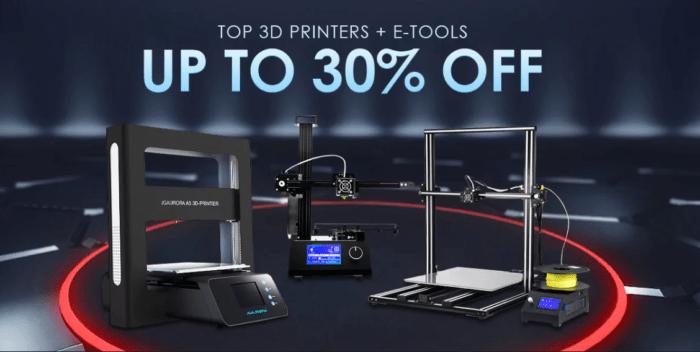 3D tiskárny a nářadí ve výprodeji na Gearbestu