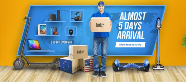 Gearbest a jeho nabídka zboží v EU skladech