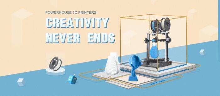 Slušná nálož 3D tiskáren na Gearbestu