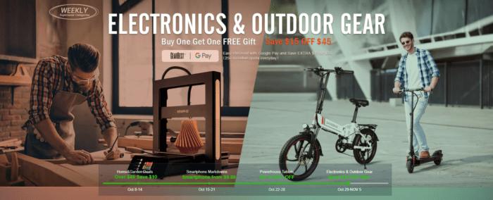 Spousta 3D tiskáren a outdoorových věcí na Gearu